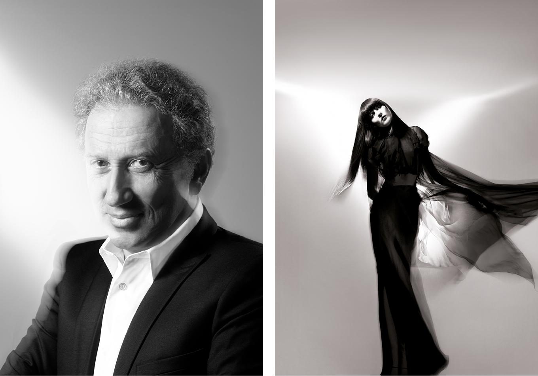 Linda Bujoli - portrait photographique iconique Michel Drucker -irina lazareanu