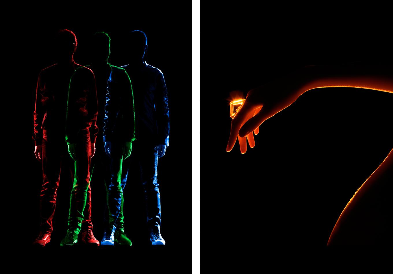 ligne de lumière - GoGo Penguin - album - A humdrum Star - album - sculpter par la lumière