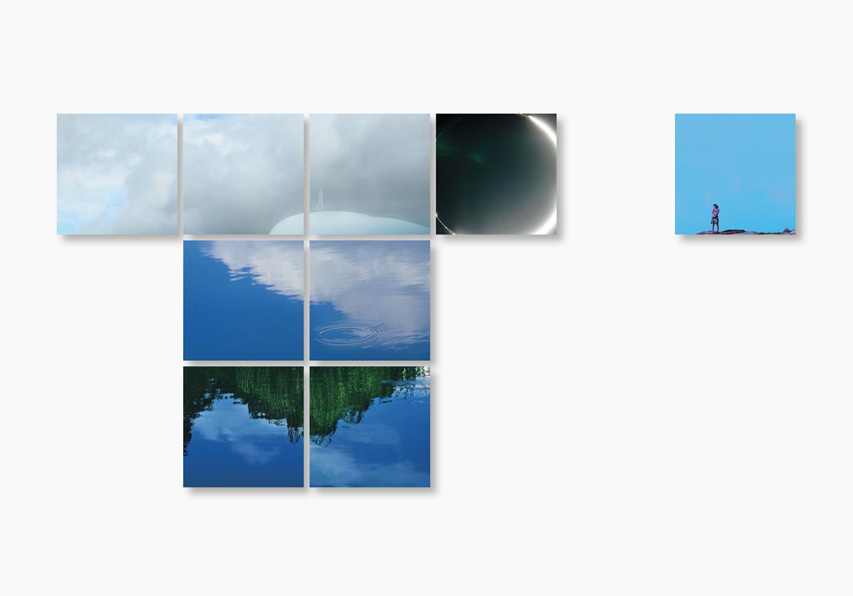 Linda Bujoli - Photographe plasticienne - une fenêtre de rêve photographique - Un Tableau Pour rêver - œuvre modulaire photographique - Installation méditative - galerie Artligue - œuvre méditative